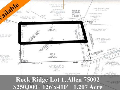 Rock Ridge Lot 1