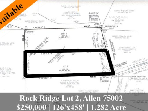 Rock Ridge Lot 2